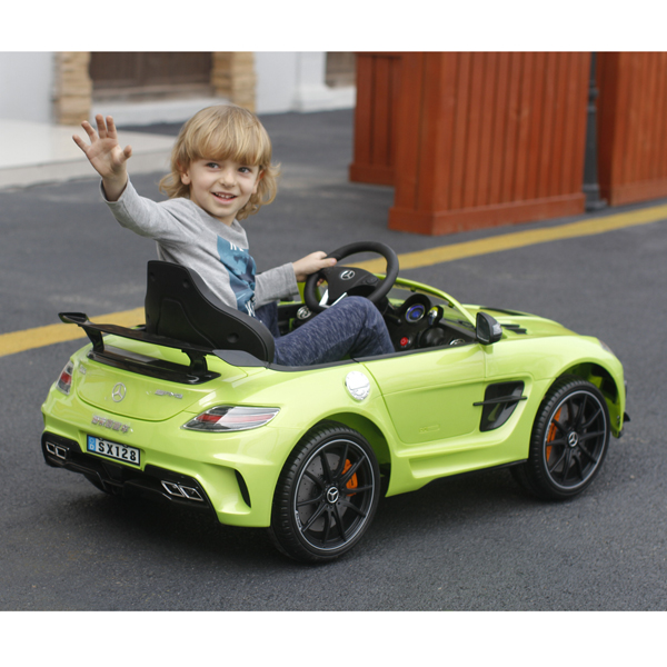 sls amg cabriolet elektro kinderauto kinderfahrzeug kinder. Black Bedroom Furniture Sets. Home Design Ideas